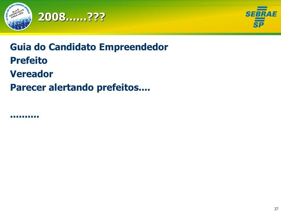 2008...... Guia do Candidato Empreendedor Prefeito Vereador
