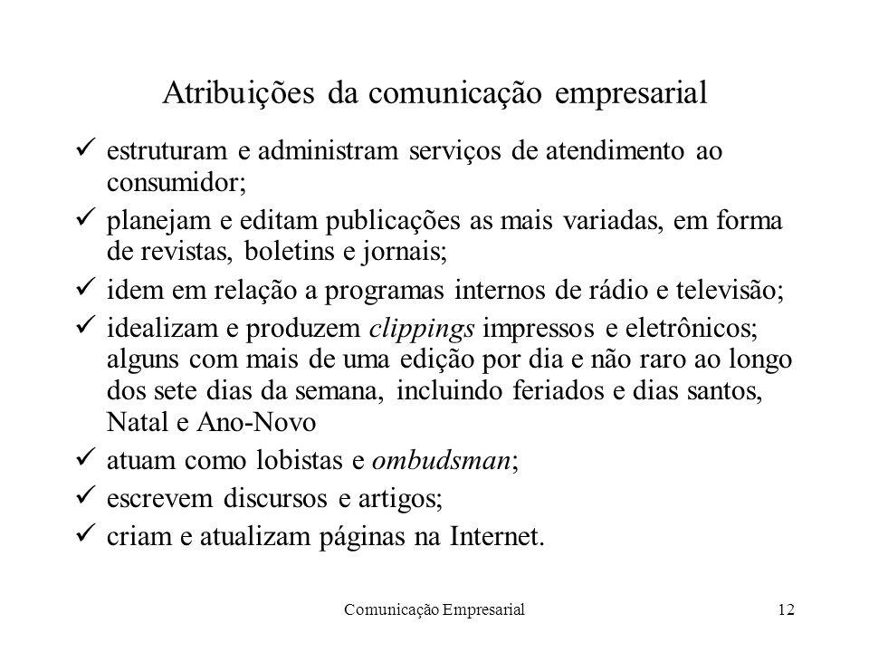 Atribuições da comunicação empresarial