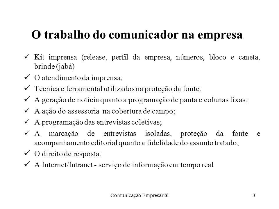 O trabalho do comunicador na empresa