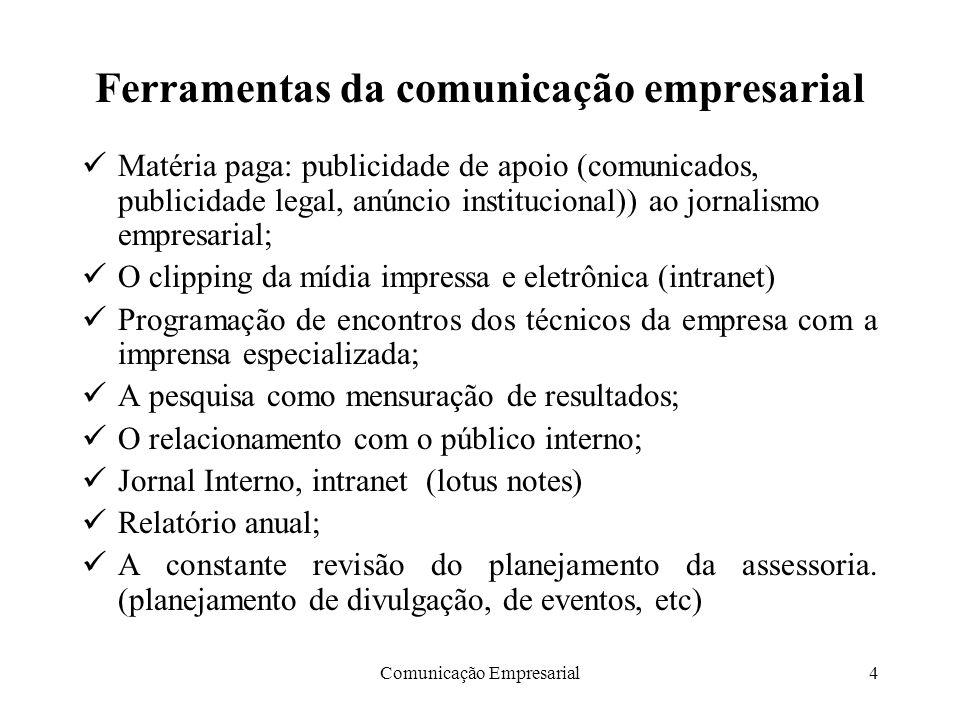 Ferramentas da comunicação empresarial