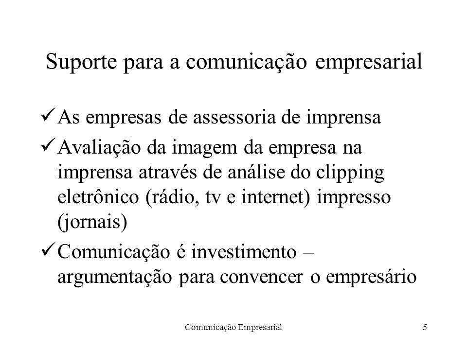 Suporte para a comunicação empresarial