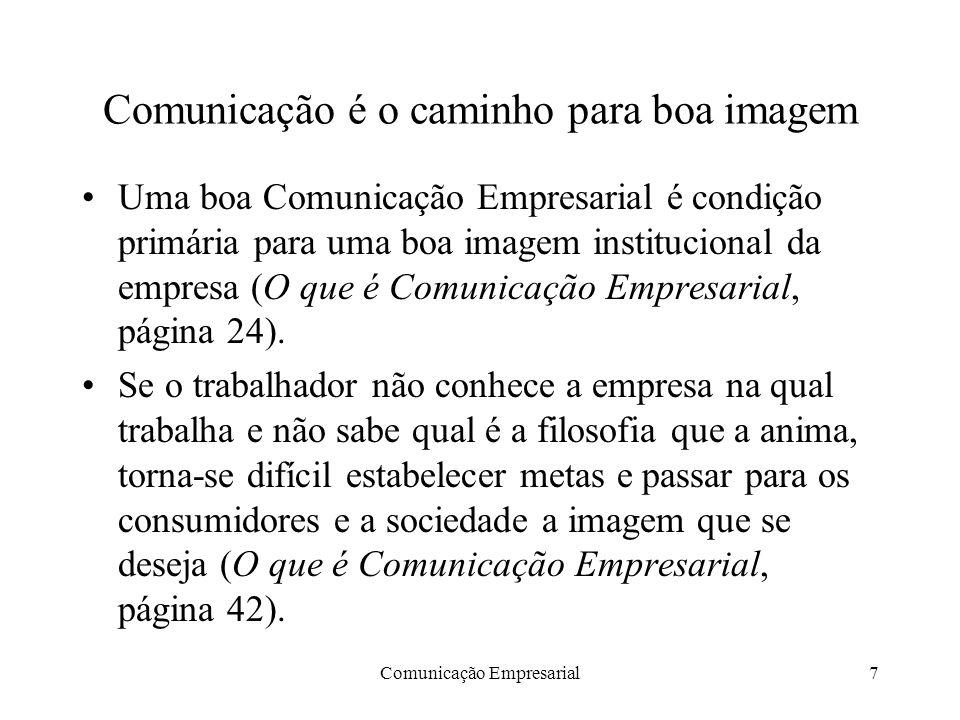 Comunicação é o caminho para boa imagem