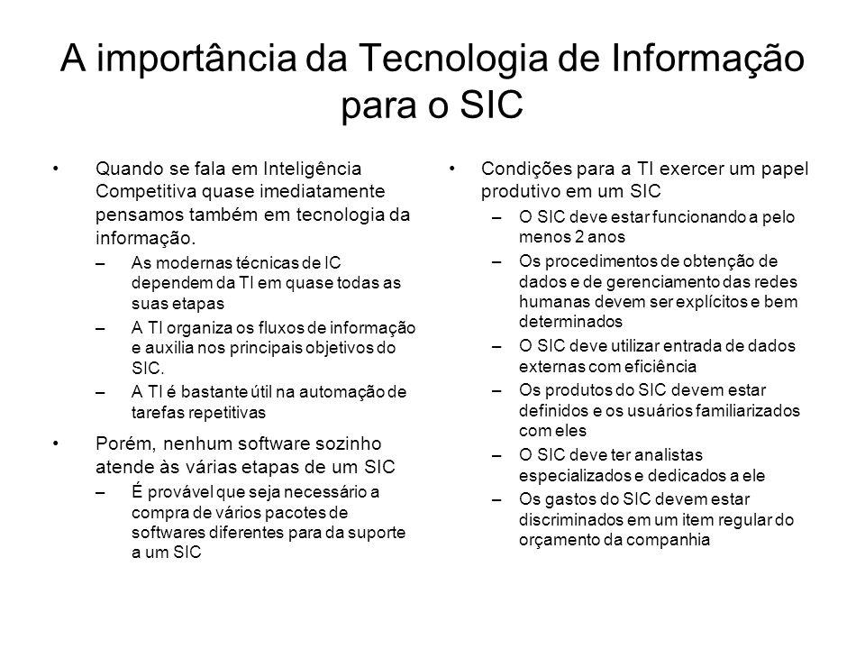 A importância da Tecnologia de Informação para o SIC