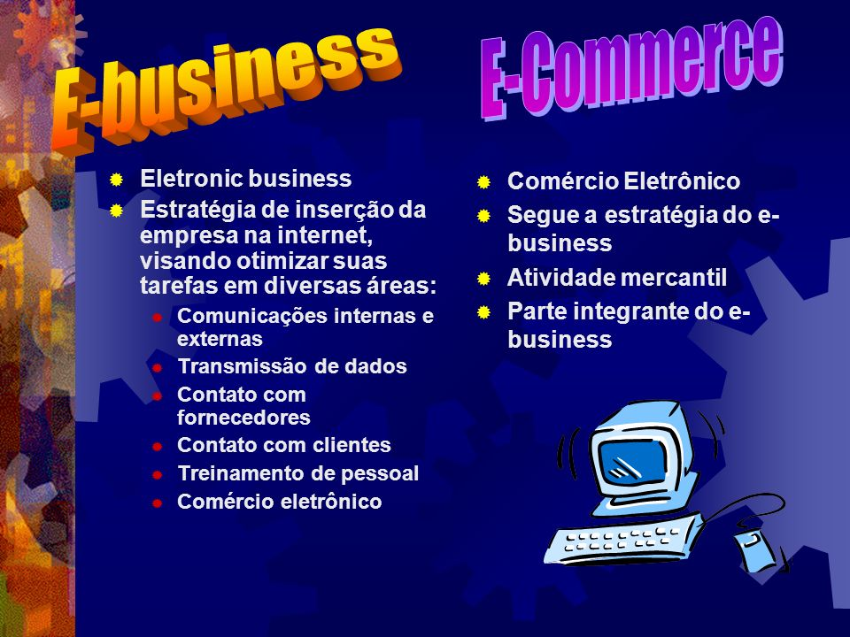 E-Commerce E-business Eletronic business