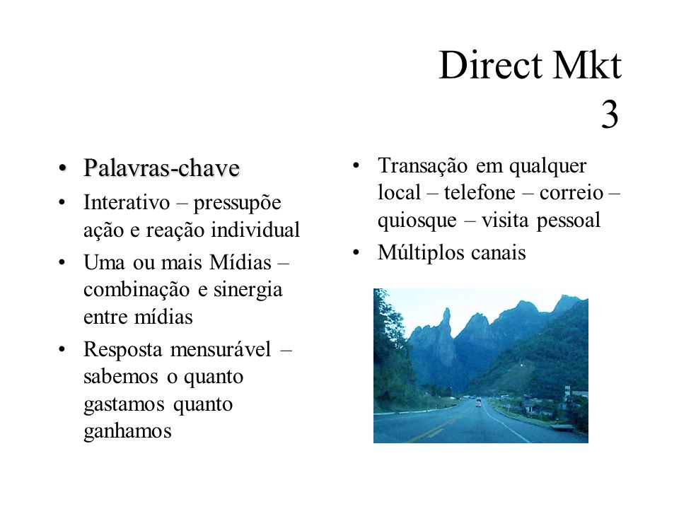 Direct Mkt 3 Palavras-chave
