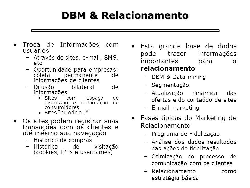 DBM & Relacionamento Troca de Informações com usuários