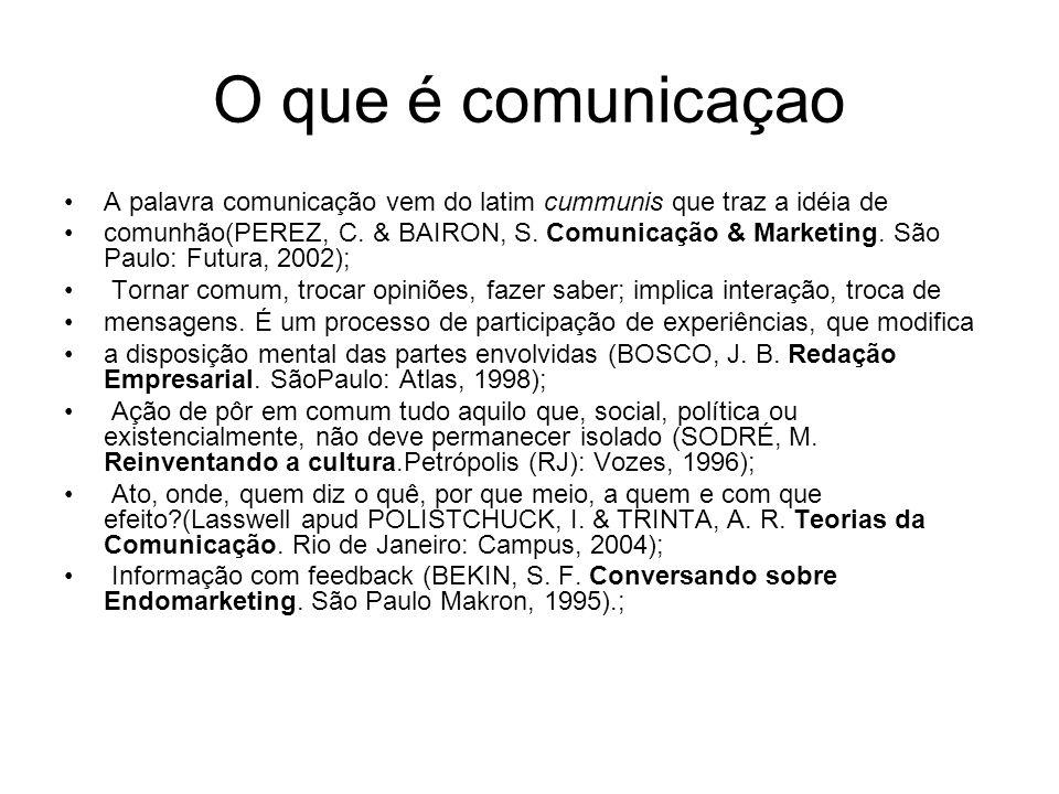 O que é comunicaçao A palavra comunicação vem do latim cummunis que traz a idéia de.