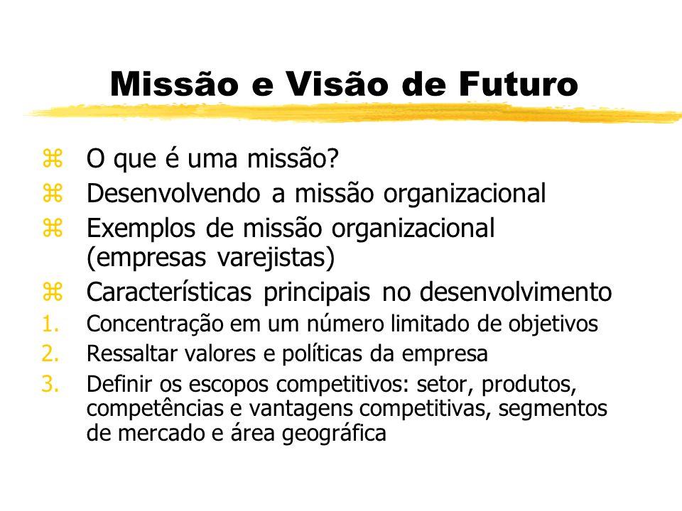 Missão e Visão de Futuro