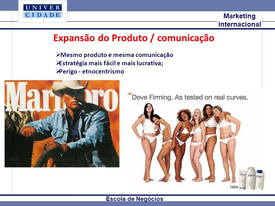 Expansão do Produto / comunicação