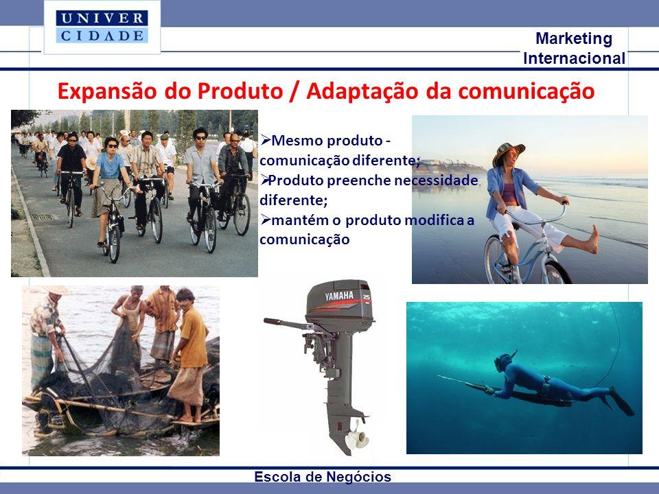 Expansão do Produto / Adaptação da comunicação