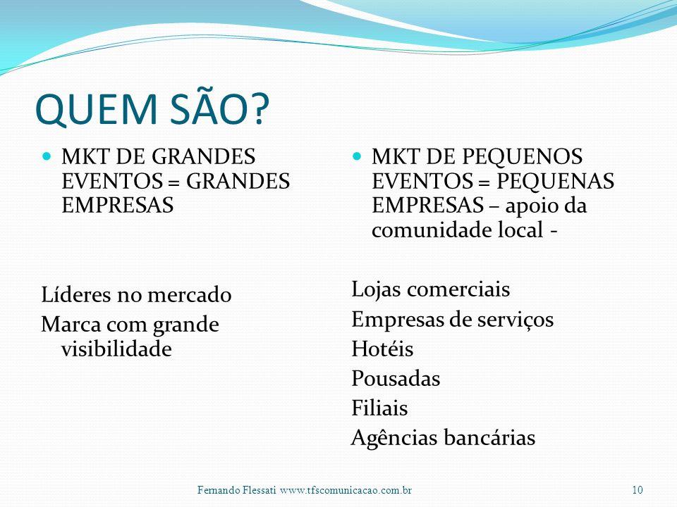 QUEM SÃO MKT DE GRANDES EVENTOS = GRANDES EMPRESAS Líderes no mercado