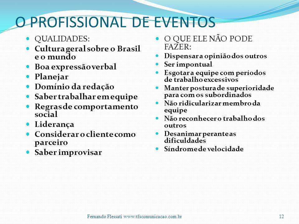 O PROFISSIONAL DE EVENTOS