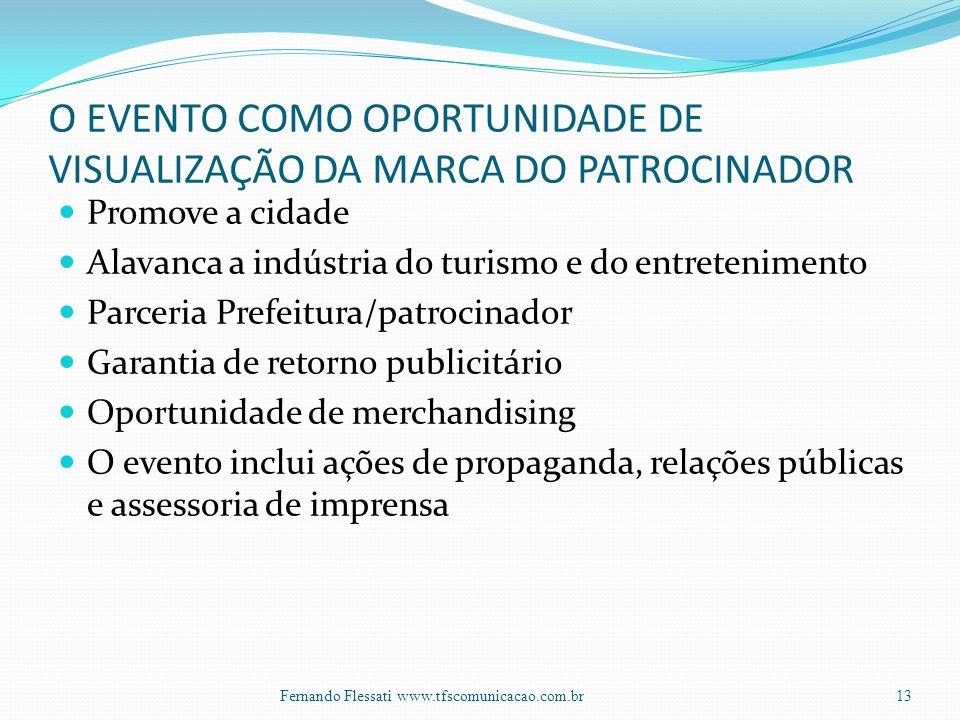 O EVENTO COMO OPORTUNIDADE DE VISUALIZAÇÃO DA MARCA DO PATROCINADOR