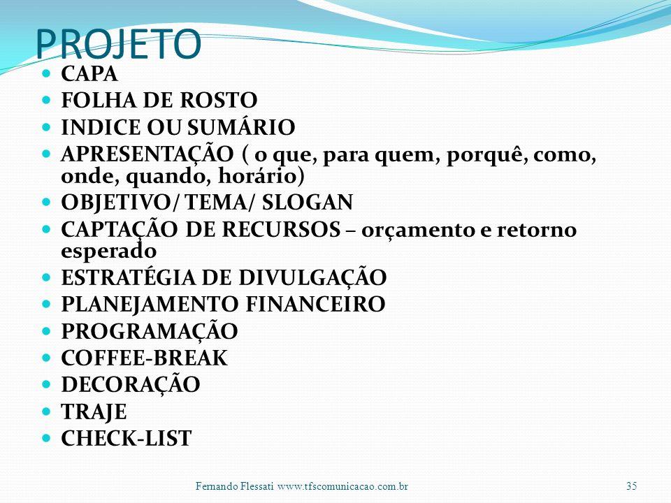 PROJETO CAPA FOLHA DE ROSTO INDICE OU SUMÁRIO