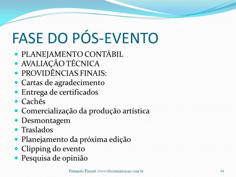 FASE DO PÓS-EVENTO PLANEJAMENTO CONTÁBIL AVALIAÇÃO TÉCNICA