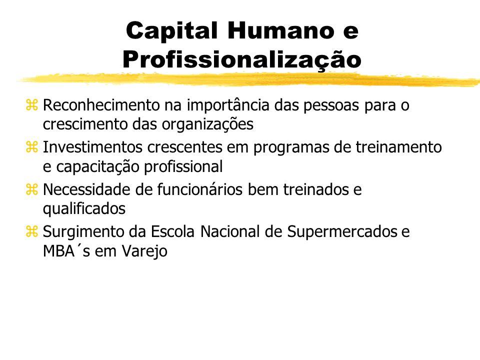 Capital Humano e Profissionalização