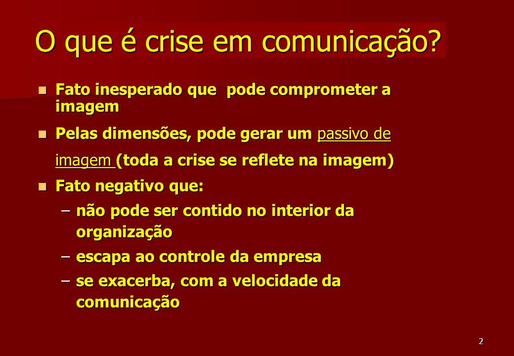 O que é crise em comunicação