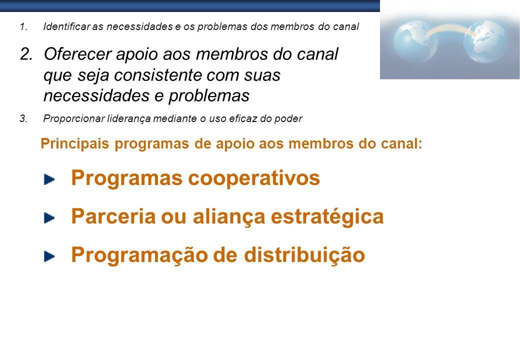 Programas cooperativos Parceria ou aliança estratégica