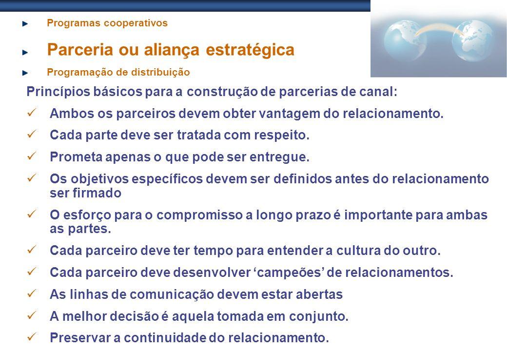 Princípios básicos para a construção de parcerias de canal: