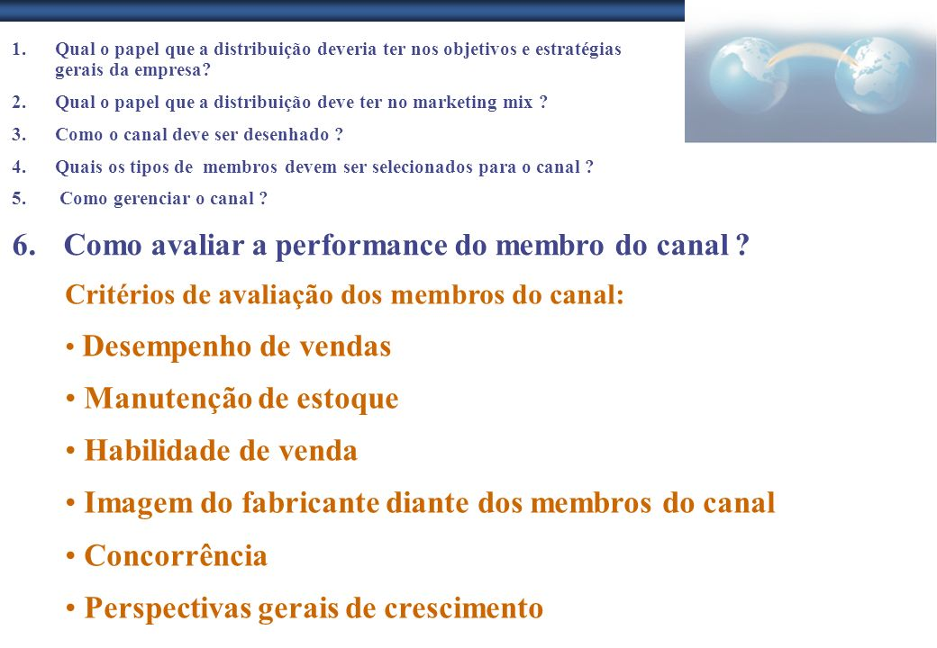 Como avaliar a performance do membro do canal