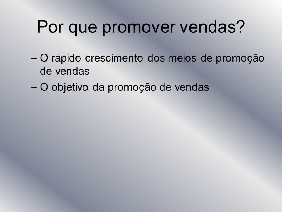 Por que promover vendas