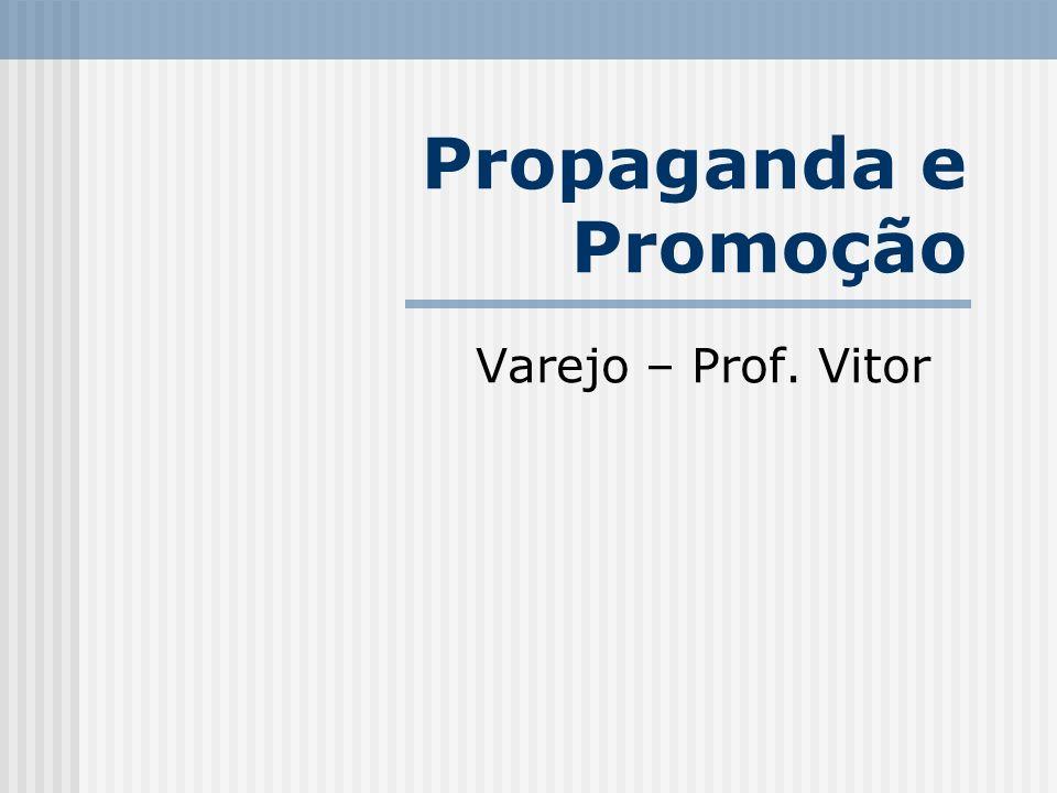 Propaganda e Promoção Varejo – Prof. Vitor