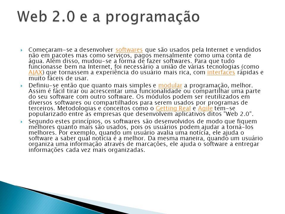 Web 2.0 e a programação