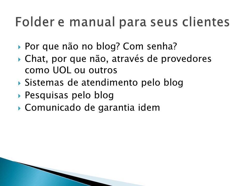 Folder e manual para seus clientes