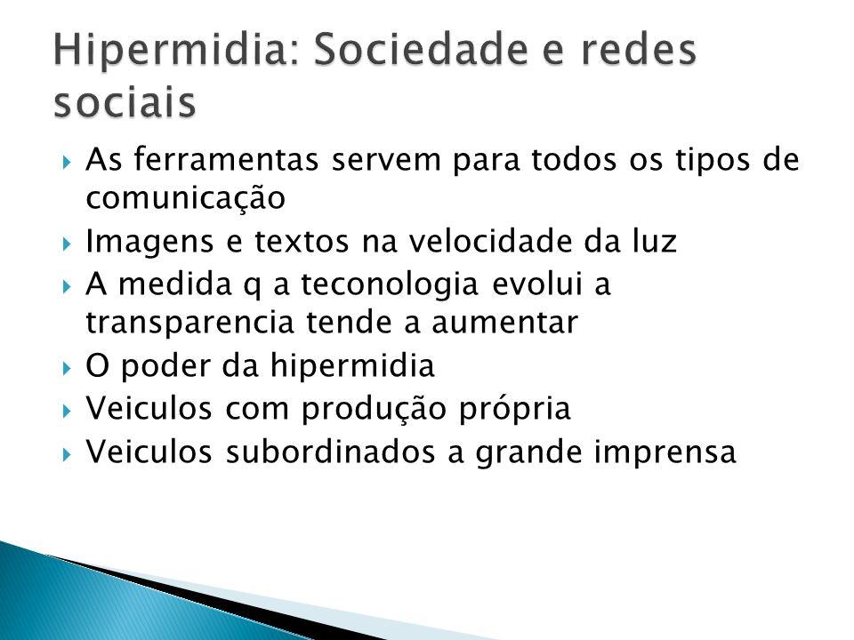 Hipermidia: Sociedade e redes sociais