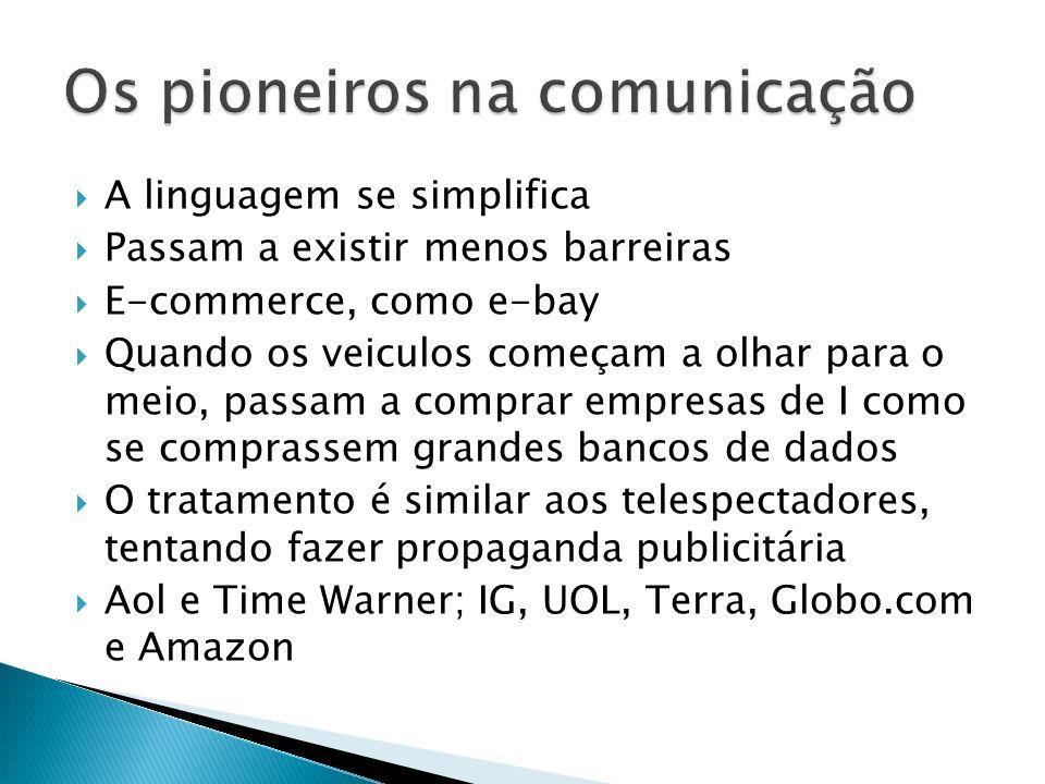 Os pioneiros na comunicação