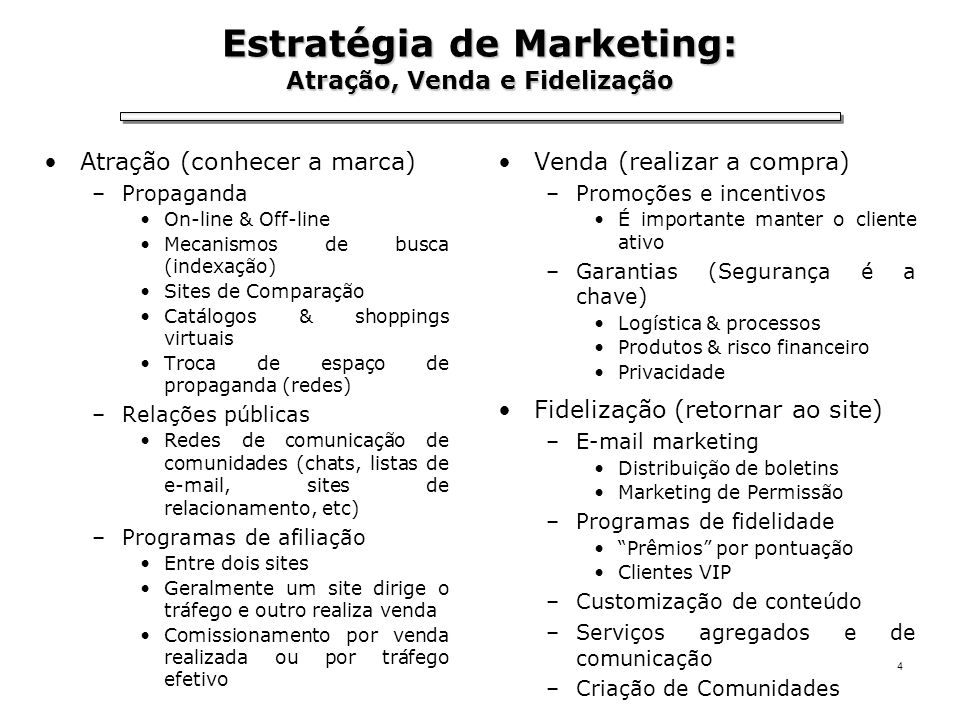 Estratégia de Marketing: Atração, Venda e Fidelização