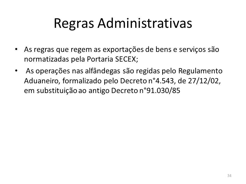 Regras Administrativas