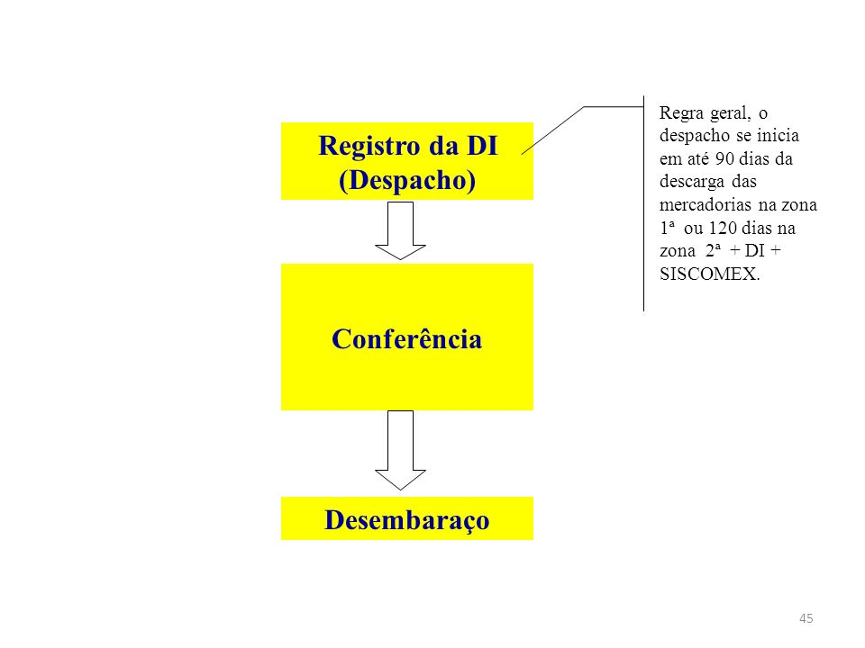 Registro da DI (Despacho)
