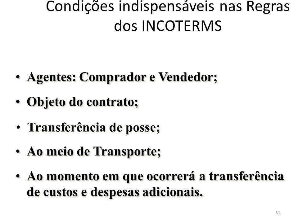 Condições indispensáveis nas Regras dos INCOTERMS