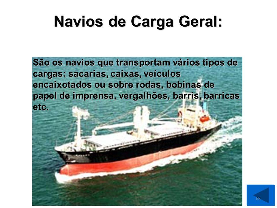 Navios de Carga Geral: