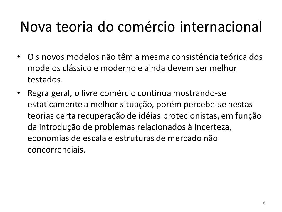 Nova teoria do comércio internacional