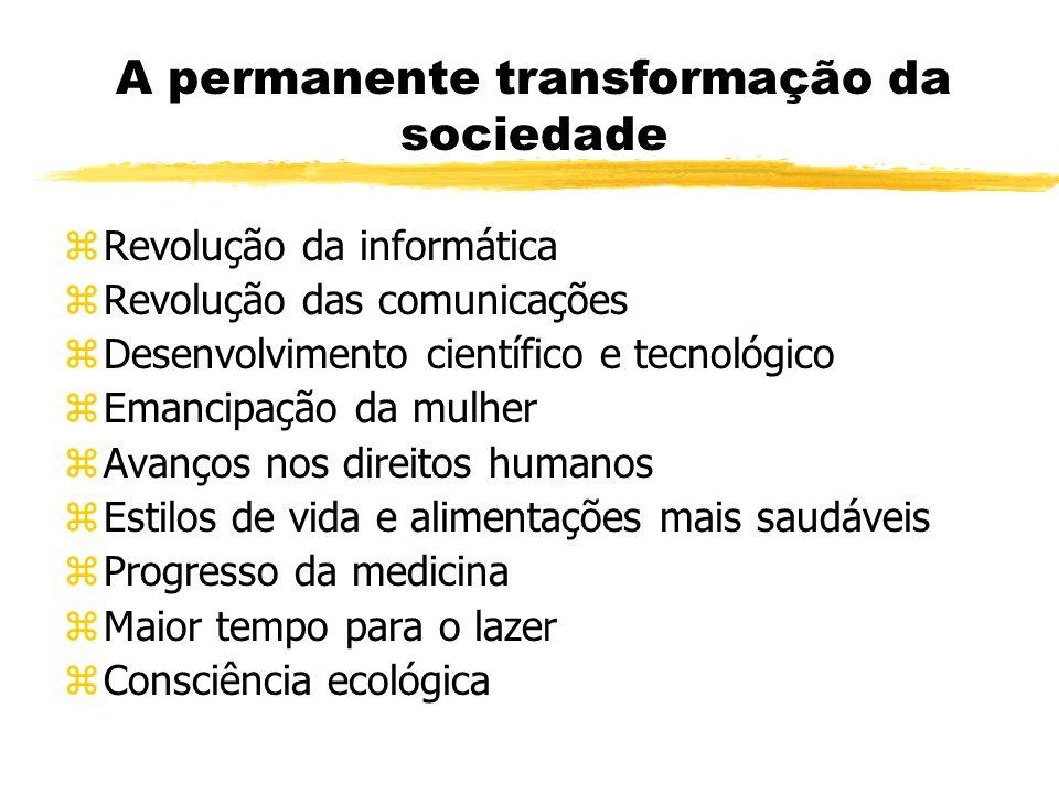 A permanente transformação da sociedade
