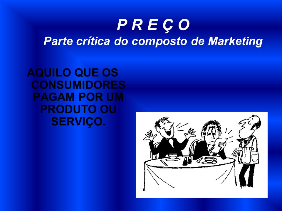 P R E Ç O Parte crítica do composto de Marketing