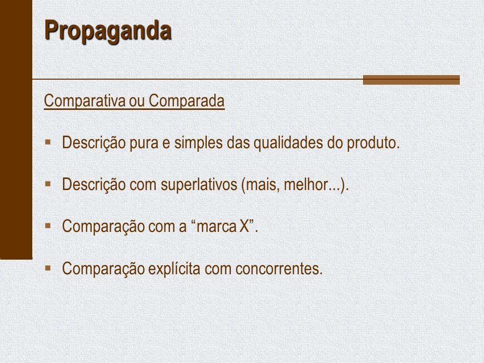 Propaganda Comparativa ou Comparada