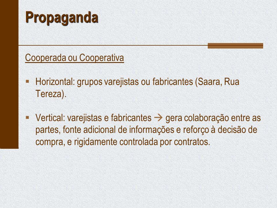 Propaganda Cooperada ou Cooperativa