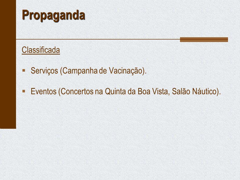 Propaganda Classificada Serviços (Campanha de Vacinação).