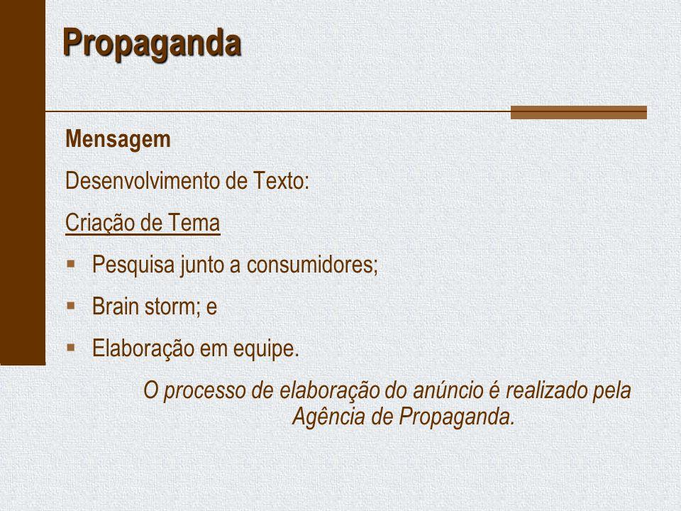 Propaganda Mensagem Desenvolvimento de Texto: Criação de Tema
