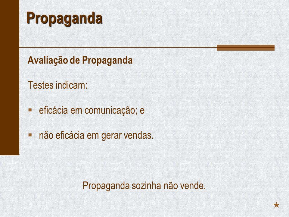 Propaganda sozinha não vende.