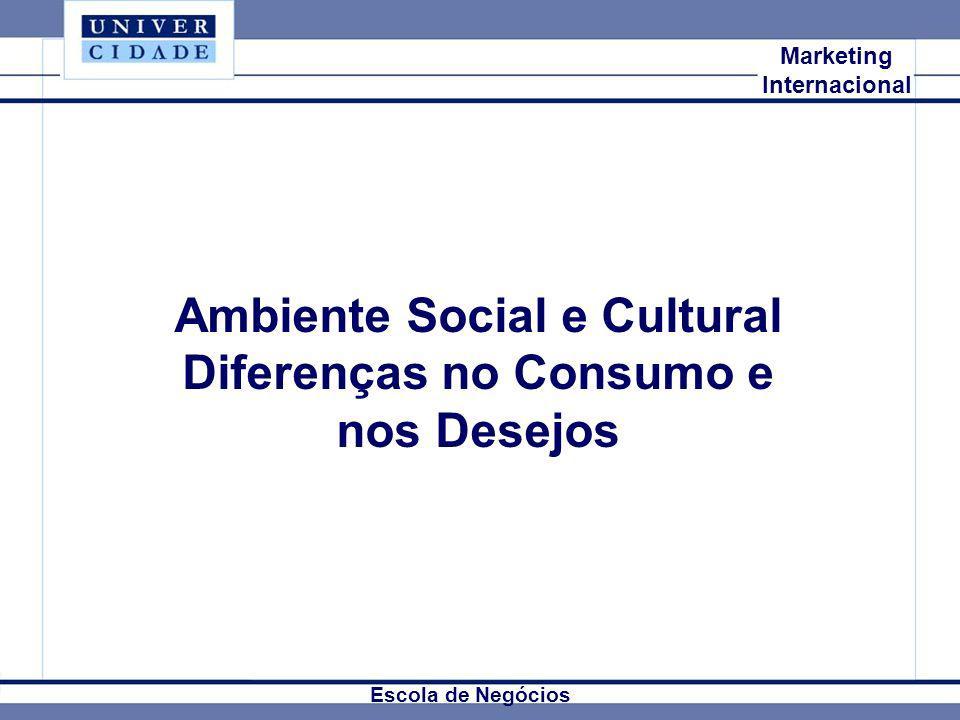 Ambiente Social e Cultural Diferenças no Consumo e nos Desejos