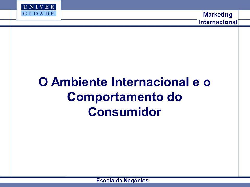 O Ambiente Internacional e o Comportamento do Consumidor
