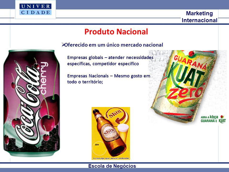Produto Nacional Mkt Internacional Marketing Internacional