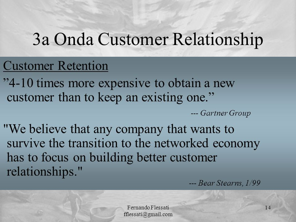 3a Onda Customer Relationship