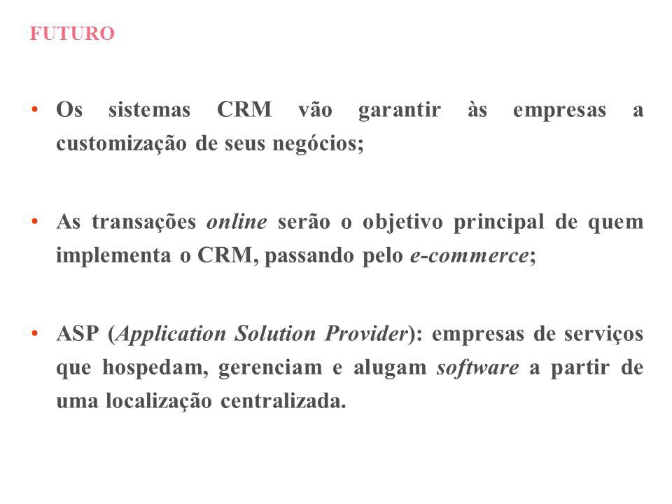 FUTURO Os sistemas CRM vão garantir às empresas a customização de seus negócios;