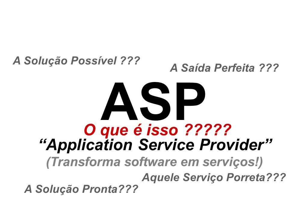 Application Service Provider (Transforma software em serviços!)