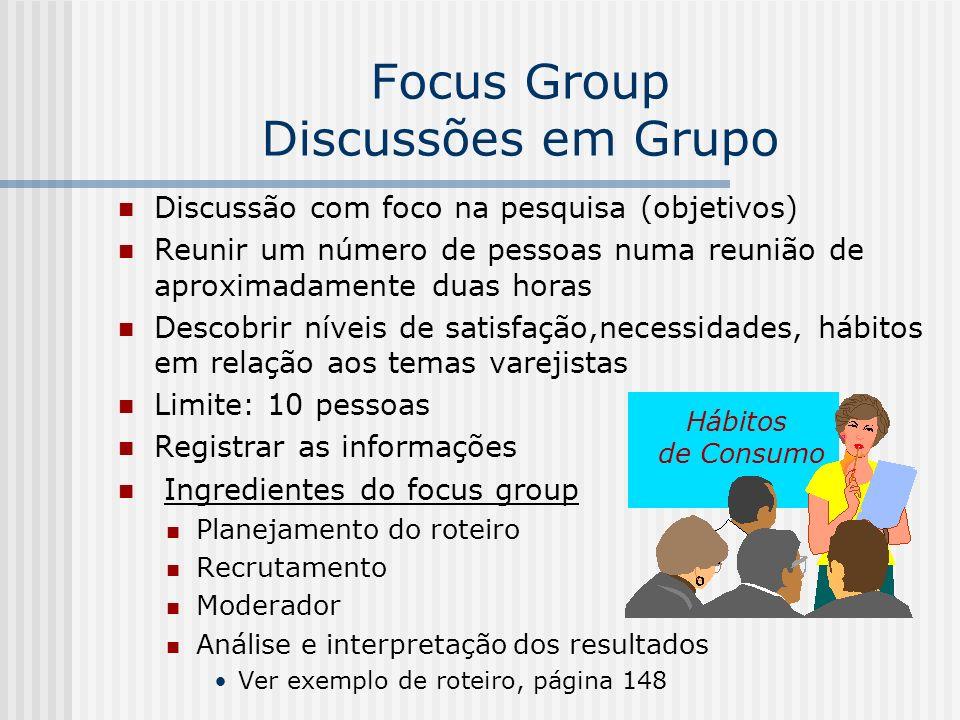 Focus Group Discussões em Grupo